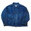 画像1: doublet / CHAOS EMBROIDERY HEMP DENIM JACKET(INDIGO) (1)