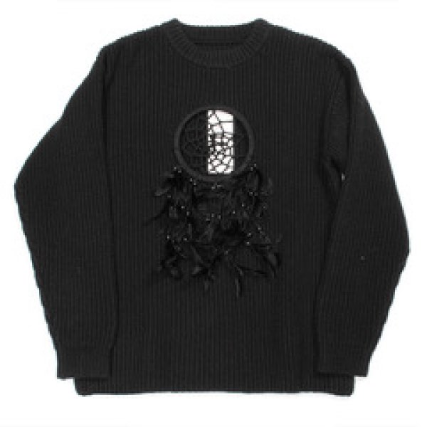 画像1: doublet / DREAM CATCHER KNITWEAR(BLACK) (1)